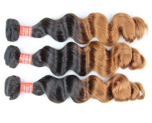 Ombre Two Tone Bundle Hair Extension High Quality Virgin Remy Hair