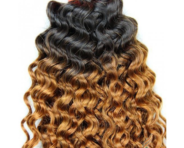Full Ombre Bundle Hair Extension Tangle Free Shedding Free