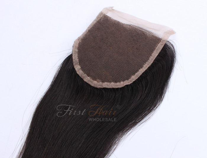 44inch Top Closure3 Pieces Of Hair Weave Silky Straight 6a Grade
