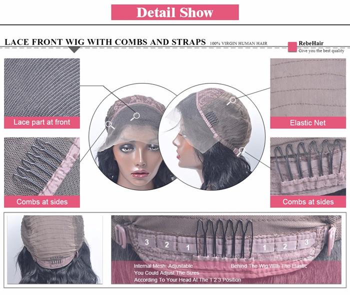 lace front details